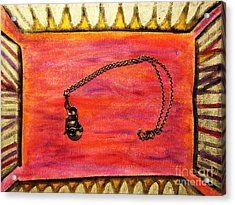 Art Metal Museum Sterling Silver Greatest Masturbator Of All Jewelry Item Acrylic Print by Lois Picasso