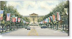 Art Museum  Acrylic Print by Keith Mountford