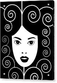 Art Nouveau Poster Acrylic Print by Frank Tschakert