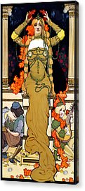 Art Nouveau Woman  1903 Acrylic Print