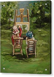 Art Of Teaching Oil Painting Acrylic Print by Dyanne Parker