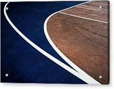 Art On The Basketball Court  11 Acrylic Print by Gary Slawsky