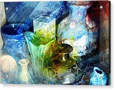 Art Pottery Still Life In Light And Color Acrylic Print by John Fish