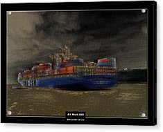 Art Work 068 Container Ship Acrylic Print by Alexander Drum