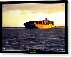 Art Work 093 Container Ship Acrylic Print by Alexander Drum