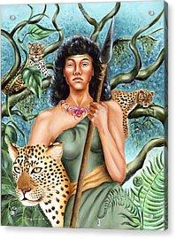 Artemis Acrylic Print by Karin  Leonard