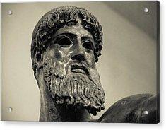 Artemision Zeus Acrylic Print by David Waldo