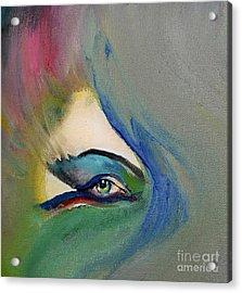Acrylic Print featuring the painting Artful Eye Of Mine by Maja Sokolowska