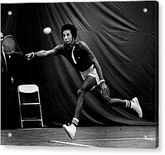 Arthur Ashe Returning Tennis Ball Acrylic Print by Retro Images Archive