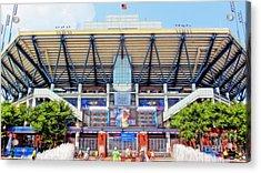 Arthur Ashe Tennis Stadium Acrylic Print by Nishanth Gopinathan