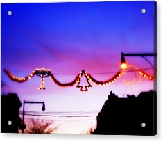 Acrylic Print featuring the photograph Arthur Avenue Holiday Lights by Aurelio Zucco