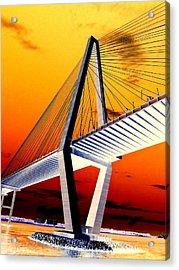 Arthur Ravenel Bridge 18 Acrylic Print by Ron Kandt