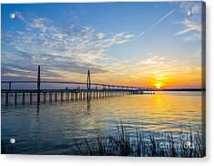 Acrylic Print featuring the photograph Calm Waters Over Charleston Sc by Dale Powell