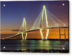 Arthur Ravenel Bridge Charleston Sc Acrylic Print by Anthony Heflin
