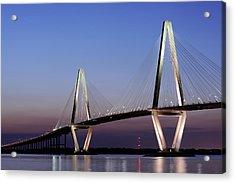 Arthur Ravenel Jr Bridge At Night Acrylic Print