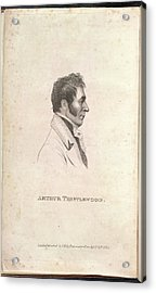 Arthur Thistlewood Acrylic Print by British Library