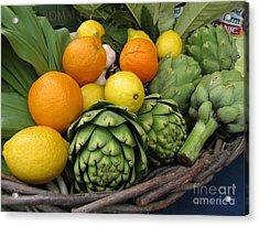 Artichokes Lemons And Oranges Acrylic Print