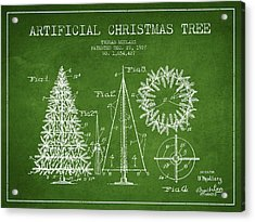 Artifical Christmas Tree Patent From 1927 - Green Acrylic Print