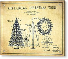 Artifical Christmas Tree Patent From 1927 - Vintage Acrylic Print