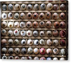 Artificial Eyes  Disorders Acrylic Print by Brooks Brown
