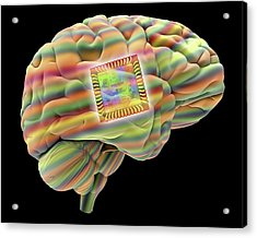 Artificial Intelligence And Cybernetics Acrylic Print