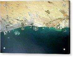 Artificial Islands Acrylic Print by Nasa