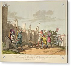 Artillery And Archers Acrylic Print by British Library