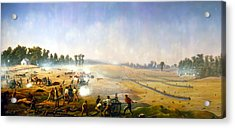 Artillery Hell At Antietam Acrylic Print by Mountain Dreams