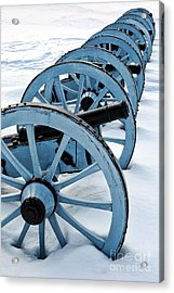 Artillery Acrylic Print by Olivier Le Queinec