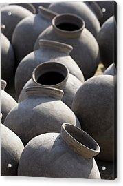 Artisan Making Clay Pot Acrylic Print by David H. Wells