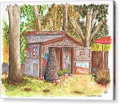 Artisans Gallery In Los Olivos - California Acrylic Print