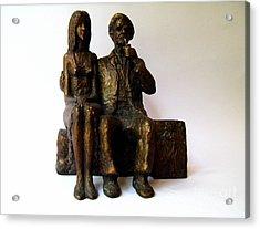 Artist And His Model Acrylic Print by Nikola Litchkov