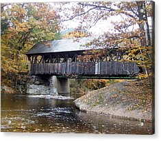 Artist Covered Bridge Acrylic Print by Catherine Gagne