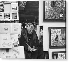 Artist Montmartre Acrylic Print by Hugh Smith