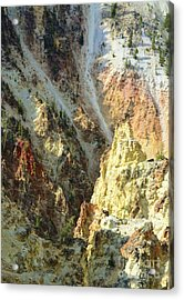 Artist Palette Of Yellowstone Acrylic Print by Kathleen Struckle