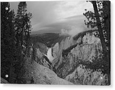 Artist Point Black And White Acrylic Print