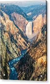 Artist Point In Yellowstone Acrylic Print