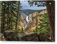 Artist Point Lower Falls   Acrylic Print