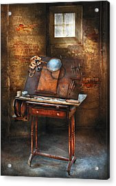 Artist - The Etching Table Acrylic Print by Mike Savad