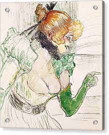 Artist With Green Gloves - Singer Dolly From Star At Le Havre Acrylic Print by Henri de Toulouse Lautrec