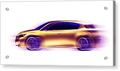 Artistic Dynamic Image Of Moving Blurred Car Acrylic Print by Oleksiy Maksymenko