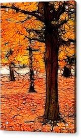 Artistic Fall Trees Acrylic Print