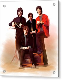 The Beatles Classic Fabs  Acrylic Print