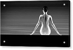 Artistic Nude Acrylic Print by Dan Comaniciu