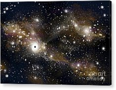 Artists Concept Of A Black Hole Acrylic Print