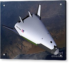Artists Concept Of The X-33 Acrylic Print by Stocktrek Images