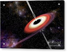 Artists Depiction Of A Black Hole Acrylic Print