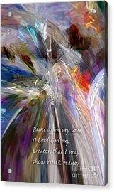 Artist's Prayer Acrylic Print