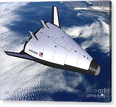 Artists Rendering Of The X-33 Reusable Acrylic Print by Stocktrek Images