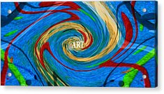 Artist's Vision Acrylic Print by Dan Sproul